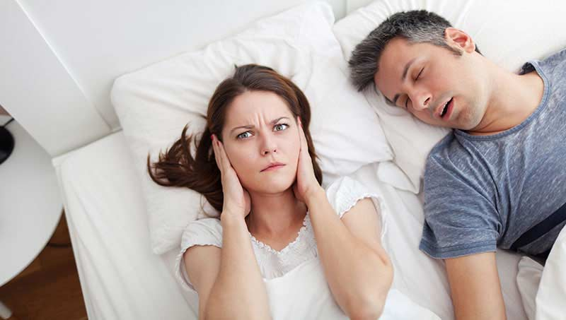 Do you have problems sleeping because your partner snores? You dentist may help.